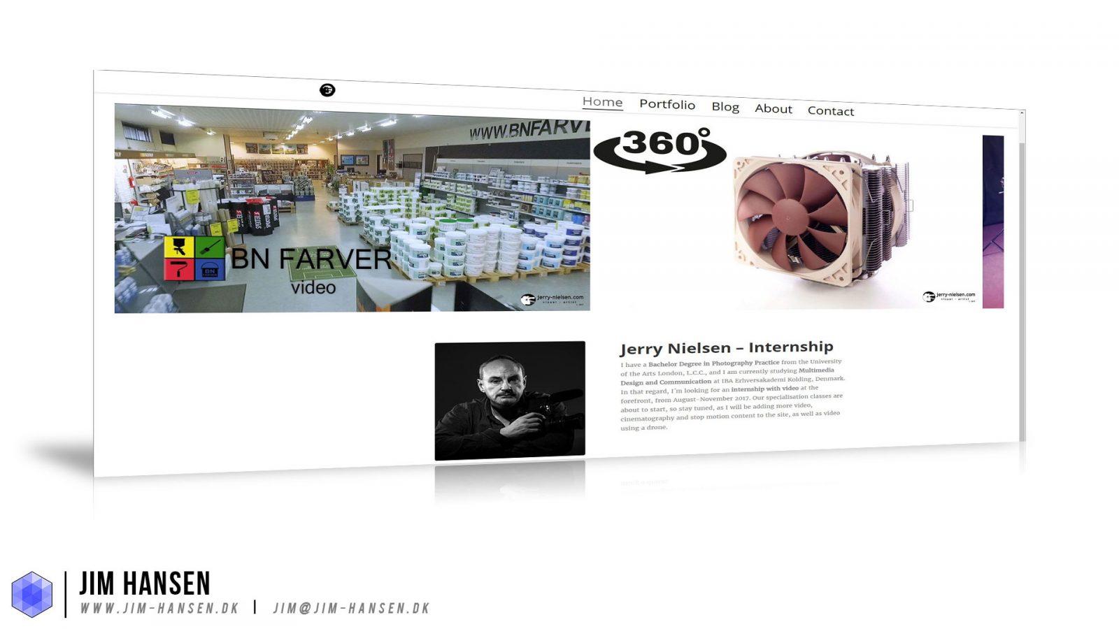 Jerry Nielsens Portfolio-Site