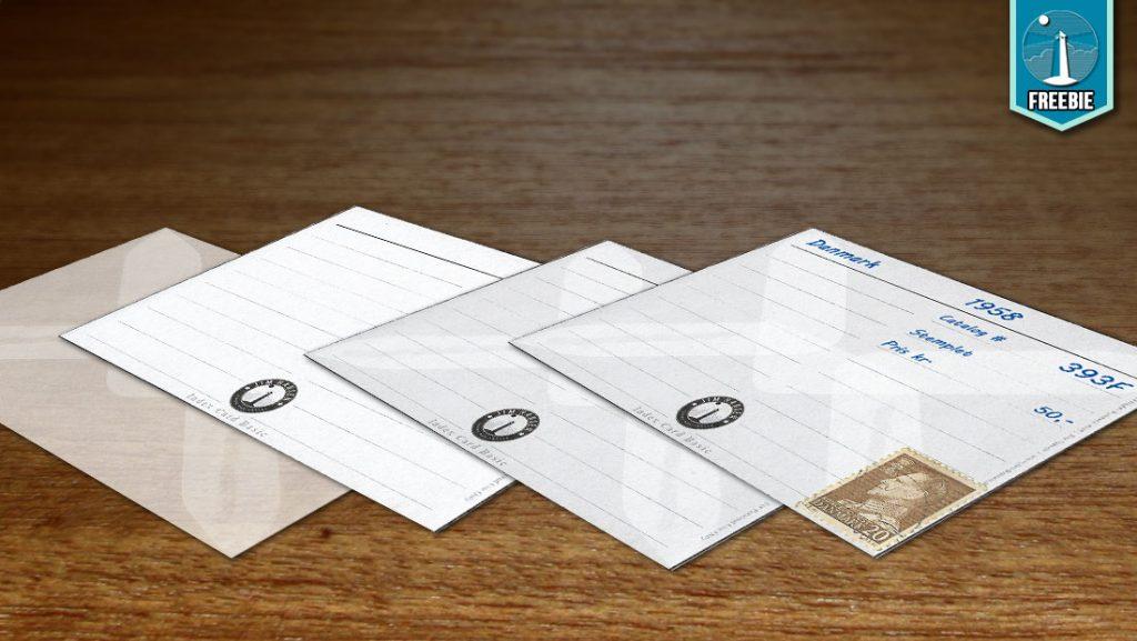 Index kort til frimærkesamleren